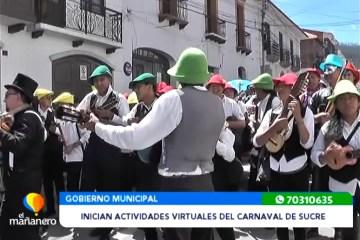 INICIAN ACTIVIDADES VIRTUALES DEL CARNAVAL DE SUCRE