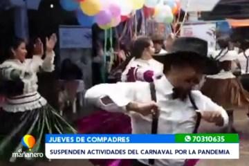 SUSPENDEN ACTIVIDADES DEL CARNAVAL POR LA PANDEMIA