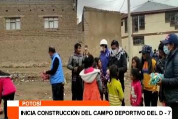 INICIA LA CONSTRUCCIÓN DEL CAMPO DEPORTIVO DEL D – 7