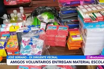 POSINOTICIA: AMIGOS VOLUNTARIOS ENTREGAN MATERIAL ESCOLAR