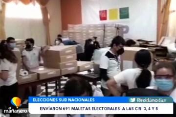 ENVIARON 691 MALETAS ELECTORALES A LAS CIRCUNSCRIPCIONES 3, 4 Y 5