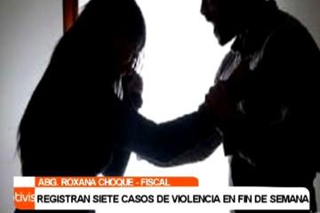 REGISTRAN SIETE CASOS DE VIOLENCIA DURANTE EL FIN DE SEMANA