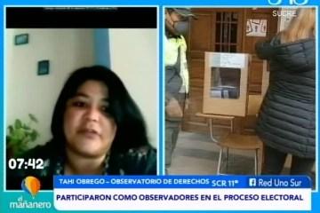 TEMA DEL DÍA: OBSERVATORIO DE DERECHOS HACE UNA EVALUACIÓN DE LAS ELECCIONES
