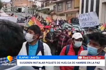 COMITÉ SUGIERE INSTALAR PIQUETE DE HUELGA DE HAMBRE DE LA PAZ