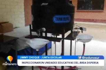 INSPECCIONARON UNIDADES EDUCATIVAS DEL ÁREA DISPERSA