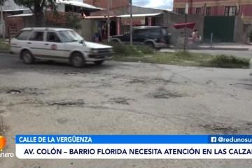 AV. COLÓN, BARRIO LA FLORIDA NECESITA ATENCIÓN EN LAS CALZADAS