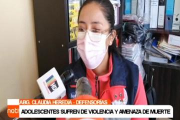 ADOLESCENTES SUFREN DE VIOLENCIA Y AMENAZA DE MUERTE