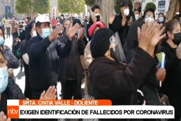 EXIGEN IDENTIFICACIÓN DE FALLECIDOS POR CORONAVIRUS