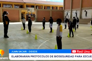 ELABORARÁN PROTOCOLOS DE BIOSEGURIDAD PARA ESCUELAS