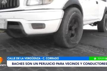 CALLE CORRADO: BACHES SON UN PERJUICIO PARA VECINOS Y CONDUCTORES