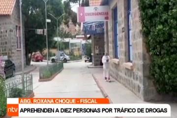 APREHENDEN A DIEZ PERSONAS POR TRÁFICO DE DROGAS