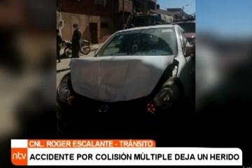 ACCIDENTE POR COLISIÓN MÚLTIPLE DEJA UN HERIDO