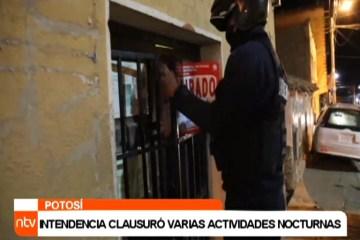 INTENDENCIA CLAUSURÓ VARIAS ACTIVIDADES NOCTURNAS