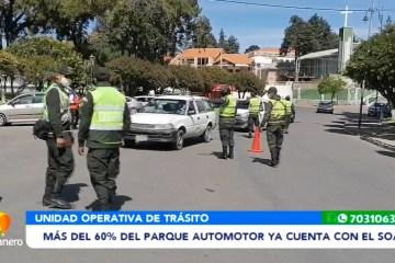 MÁS DEL 60% DEL PARQUE AUTOMOTOR YA CUENTA CON EL SOAT