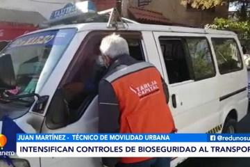 INTENSIFICAN CONTROLES AL TRANSPORTE PÚBLICO
