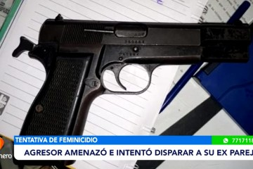 AGRESOR AMENAZÓ E INTENTÓ DISPARAR A SU EX PAREJA