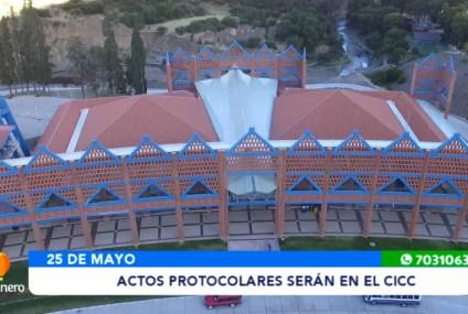ACTOS PROTOCOLARES POR EL 25 DE MAYO SERÁN EN EL CICC