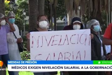 MÉDICOS EXIGEN NIVELACIÓN SALARIAL A LA GOBERNACIÓN