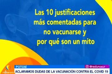 ACLARAMOS DUDAS SOBRE LA VACUNACIÓN CONTRA EL COVID 19