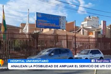 ANALIZAN LA POSIBILIDAD DE AMPLIAR EL SERVICIO DE UTI COVID