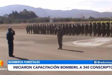 INICIARON CAPACITACIÓN BOMBERIL A 340 CONSCRIPTOS