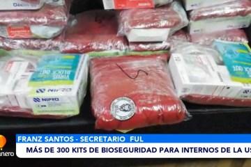 MÁS DE 300 KITS DE BIOSEGURIDAD PARA INTERNOS DE LA USFX