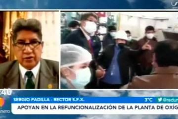 USFX APOYA EN LA REFUNCIONALIZACIÓN DE LA PLANTA DE OXÍGENO