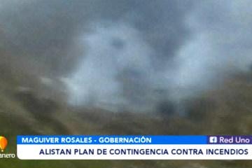 ALISTAN PLAN DE CONTINGENCIA CONTRA INCENDIOS