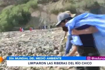 LIMPIARON LAS RIBERAS DEL RÍO CHICO