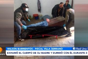 EXHUMÓ EL CUERPO DE SU MADRE Y DURMIÓ CON EL DURANTE 3 DÍAS