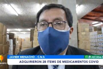 ADQUIRIERON 28 ÍTEMS DE MEDICAMENTOS COVID