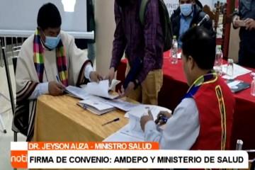FIRMA DE CONVENIO: AMDEPO Y MINISTERIO DE SALUD
