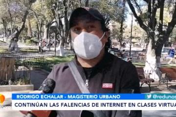 CONTINÚAN LAS FALENCIAS DE INTERNET EN CLASES VIRTUALES