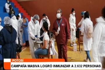 CAMPAÑA MASIVA LOGRÓ INMUNIZAR A 2.632 PERSONAS