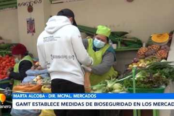 GAMT ESTABLECE MEDIDAS DE BIOSEGURIDAD EN LOS MERCADOS