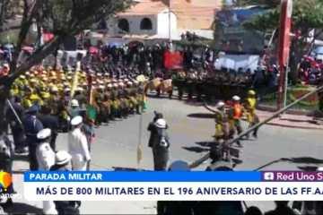 MÁS DE 800 MILITARES LLEGARÁN A SUCRE PARA PARTICIPAR DE LA PARADA MILITAR