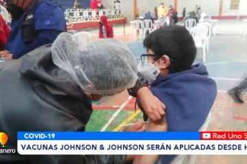 VACUNAS JOHNSON & JOHNSON SERÁN APLICADAS DESDE HOY