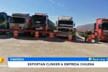 EXPORTAN CLINKER A EMPRESA CHILENA