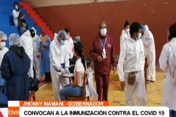 CONVOCAN A LA INMUNIZACIÓN CONTRA EL COVID 19
