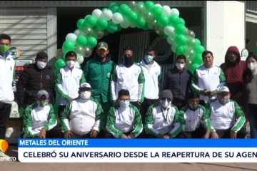 METALES DEL ORIENTE CELEBRO SU ANIVERSARIO DESDE LA REAPERTURA DE SU AGENCIA