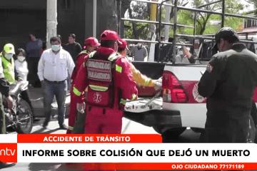 MOTOCICLISTA MUERE TRAS COLISIÓN CON UN AUTO