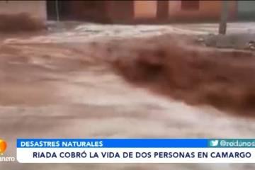 RIADA COBRA LA VIDA DE DOS PERSONAS EN CAMARGO