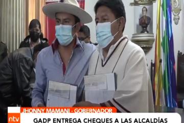 GOBERNACIÓN ENTREGA CHEQUES A LAS ALCALDÍAS
