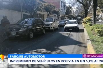 INCREMENTO DE VEHÍCULOS EN BOLIVIA EN UN 5.4 % AL 2021