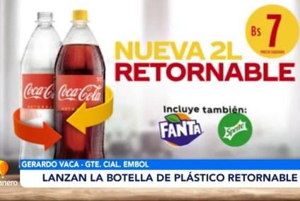 LANZAN LA BOTELLA DE PLÁSTICO RETORNABLE