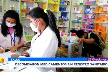 DECOMISARON MEDICAMENTOS SIN REGISTRO SANITARIO