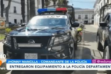 ENTREGARON EQUIPAMIENTO A LA POLICÍA DEPARTAMENTAL