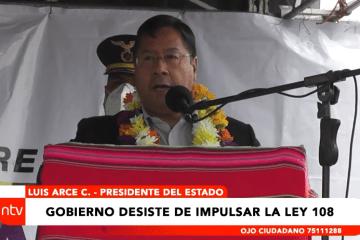 GOBIERNO DESISTE DE IMPULSAR LA LEY 108