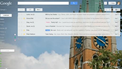 "Gmail ahora permite utilizar fondos ""customizados"""