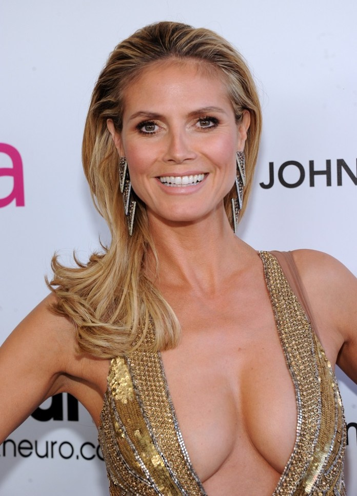 WEST HOLLYWOOD, CA - FEBRUARY 24:  Model Heidi Klum attends the 21st Annual Elton John AIDS Foundation Academy Awards Viewing Party at Pacific Design Center on February 24, 2013 in West Hollywood, California.  (Photo by Jamie McCarthy/Getty Images for EJAF)